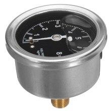 Fuel Pressure Regulator Liquid Fill Oil Gauge For Chevy