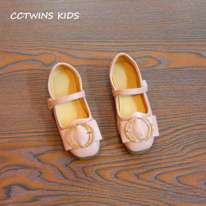 CCTWINS KIDS 2018 Autumn Children Pink Fashion Princess Flat Toddler Pu Leather Mary Jane Baby Girl Brand Dance Shoe GM2035 wendywu new kids leather shoes baby girls fashion dress mary jane for children pu leahter court shoe kid brand dance heel shoe