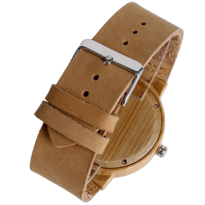 Reloj de madera creativo Minimalista Trendy Bamboo Bamboo / Deer / - Relojes para hombres - foto 5