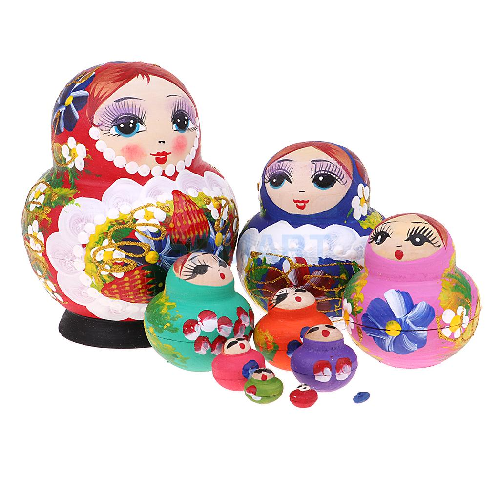 Berry Sisters Russian 5 Piece Nesting Doll Wooden Stacking Babushka Kids Toy