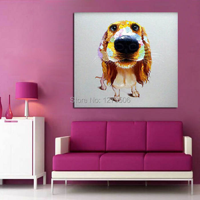 Large size Print Oil Painting Wall painting Puppy Love Home ...
