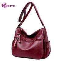 Women Leather Handbags Female Casual Shoulder Bags Ladies Shoulder Bag Design Zipper Hobos Women Messenger Bags