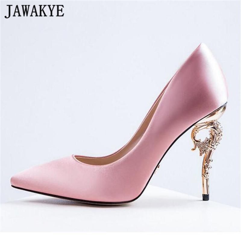 226323e4cb Shoes women 2018 new spring green high heels satin silk turquoise ...