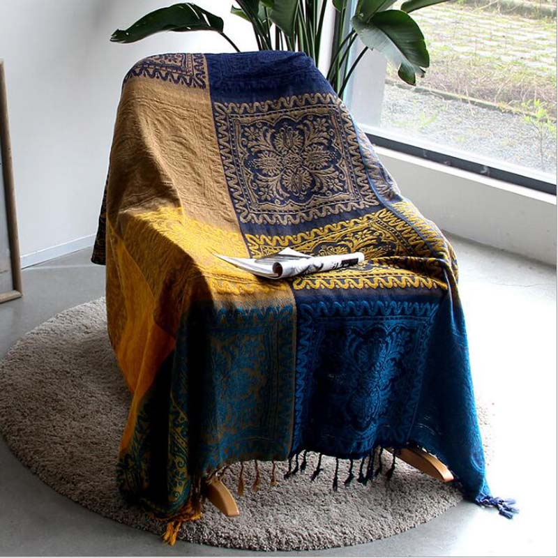 Chenille Throw Blanket For Bed Sofa Travel Plaid With