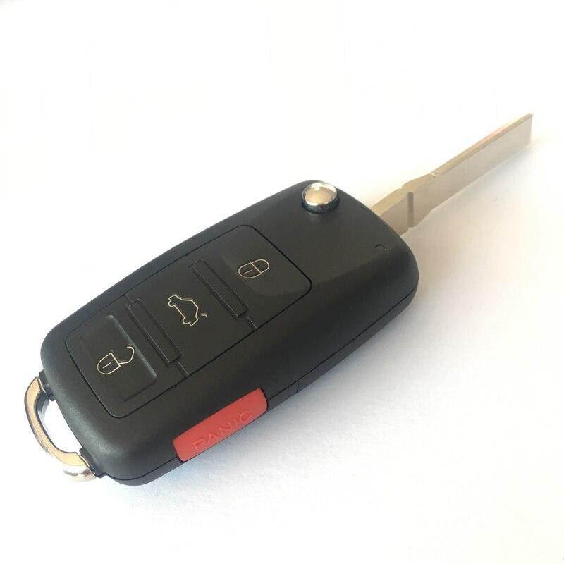 Prix pour 4 Boutons (3 + 1) Pliage Télécommande de la Clé Pour Audi A8 Avec ID46 Puce,, 315/433 MHZ