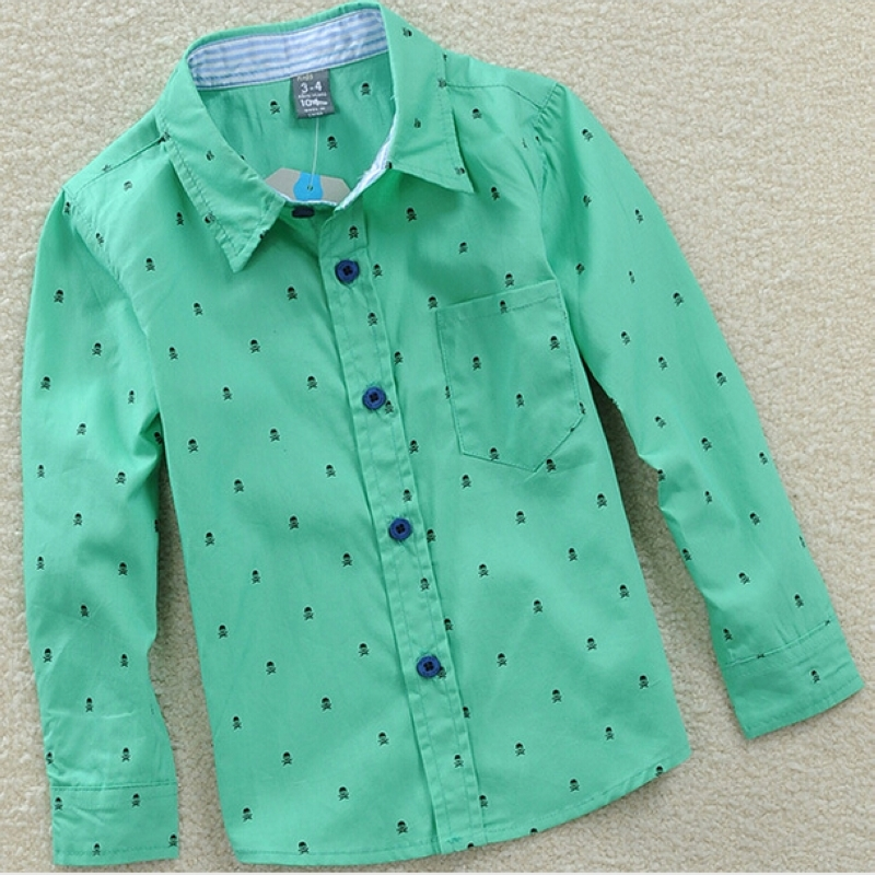 New Autumn Boys Casual Printed Cardigan Long Sleeve Polka Dot Shirts Children's Clothing Cotton Blouses Tops Clothes For Kids 2016 spring new trending comfortable pregnancy women blouses micro flower dotting printed casual shirts maternity clothes 1062