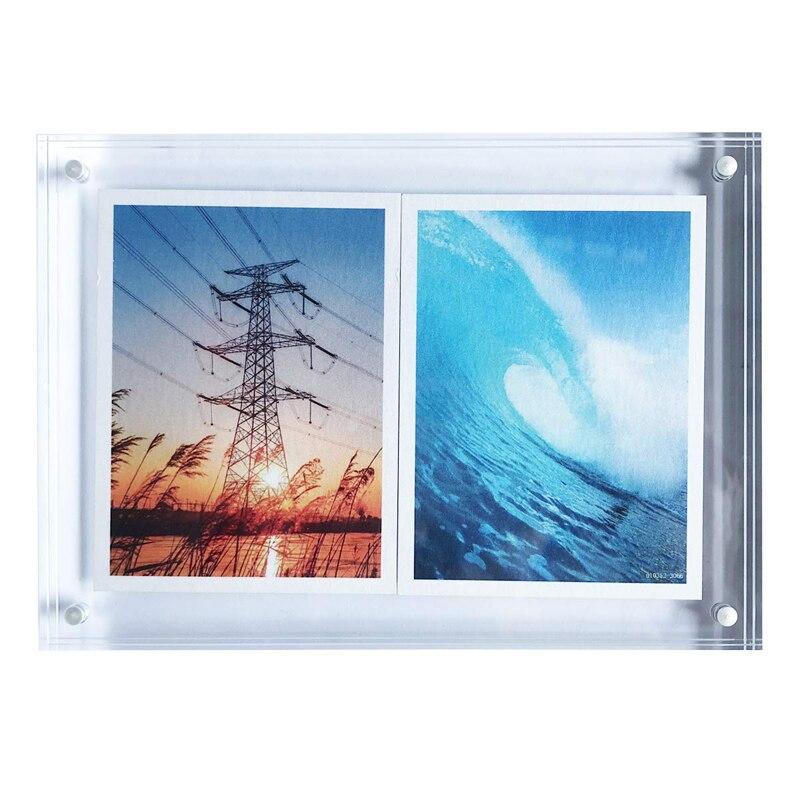 Acryl Fotolijst 5x7 Inch Acryl Magnetische Frame Clear Dubbelzijdig Foto Houder 0.8 Inch Dikke Desktop Frame