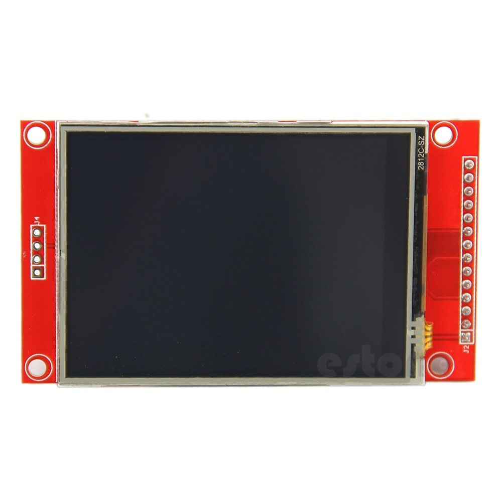 2 8 240x320 SPI TFT LCD Serial Port Module PCB Adapter Micro SD ILI9341 5V 3