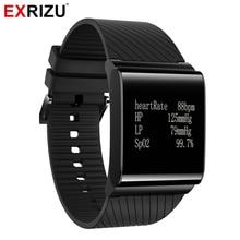 EXRIZU X9 Plus Blood Pressure Monitor Oxgen Heart Rate Smart Wristband Health Fitness Bracelet Tracker Smartwatch Pedometer