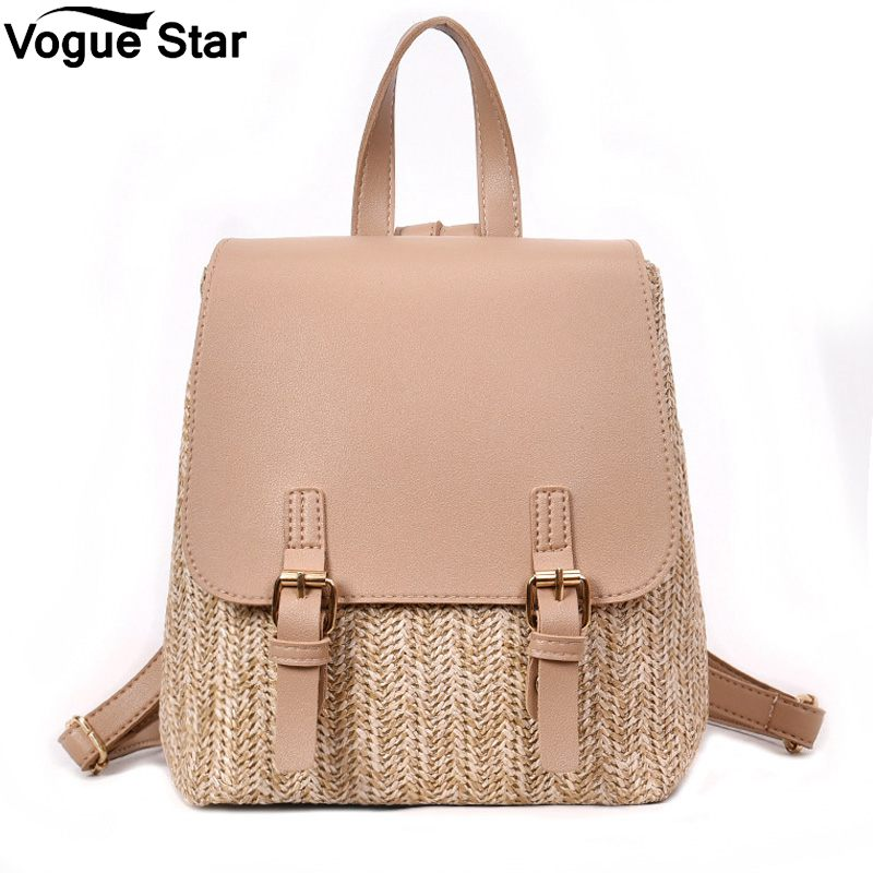 Quality Backpacks Travel Bags Books Rucksack Drop Ship Fashion Straw Woven Backpack Women Back Pack Summer Teenage Girl M309