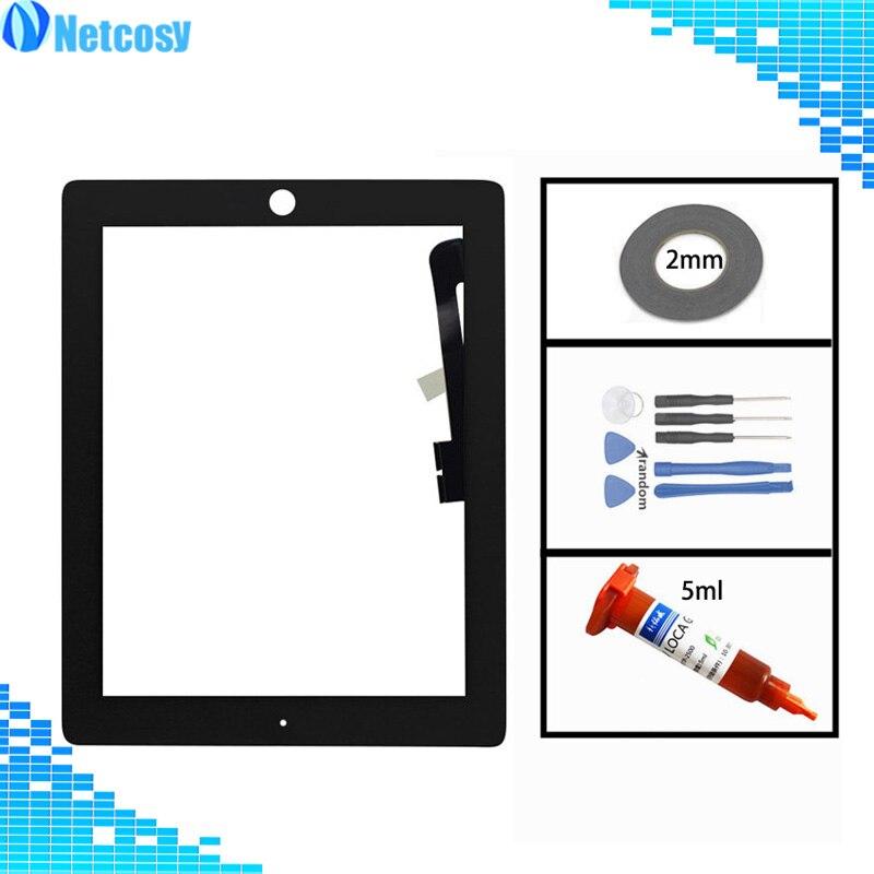 Contacto para ipad 3 4 digitalizador de pantalla táctil Lente de Cristal de Sensor para ipad 3 4 A1403 A1416 A1430 A1458 A1459 A1460 pantalla táctil