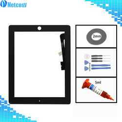 Touch For ipad 3 4 Touch Screen Digitizer Glass lens Sensor panel For ipad 3 4 A1403 A1416 A1430 A1458 A1459 A1460 Touchscreen