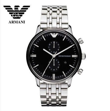 DHL Original Giorgio Armani watches multifunctional business casual round quartz watch Armani men's watch AR0389 барсетка giorgio ferretti business 3276 019 rosolare gf