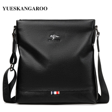 New Luxury Brand Business Men Crossbody Bag Male Casual Simple Style Leather Shoulder Bag For Man Messenger Bags Travel Handbags недорого