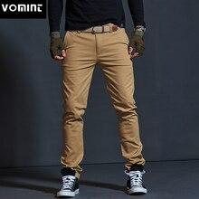 Vomint Mens warm กำมะหยี่กางเกงแฟชั่นซิปหนา Cargo กางเกง Slim ปกติตรง Fit ผ้าฝ้ายสี Camouflage blue
