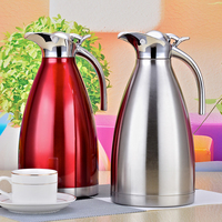 1.5L 2L Double Wall Stainless Steel Thermos Flask Family Office Vacuum Insulation Pot Large Capacity Coffee Thermoses Bottle