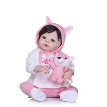 NPKCOLLECTION 55cm Silicone Reborn Dolls Lifestyle Soft Bjd