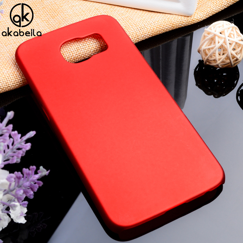 AKABEILA Matte Plastic Phone Case For Samsung Galaxy S6 SVI G920F Bag Case Cover G920FD G920FQ G9200 G9208 Rubber Slim Case Skin