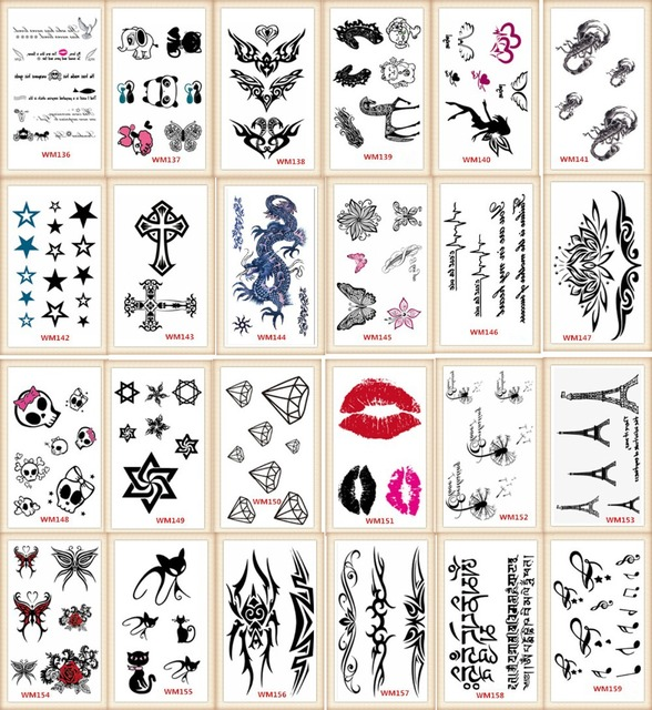 20 Models Lot Tattoo Sex Products Temporary Tattoo For Man And Woman Waterproof Stickers
