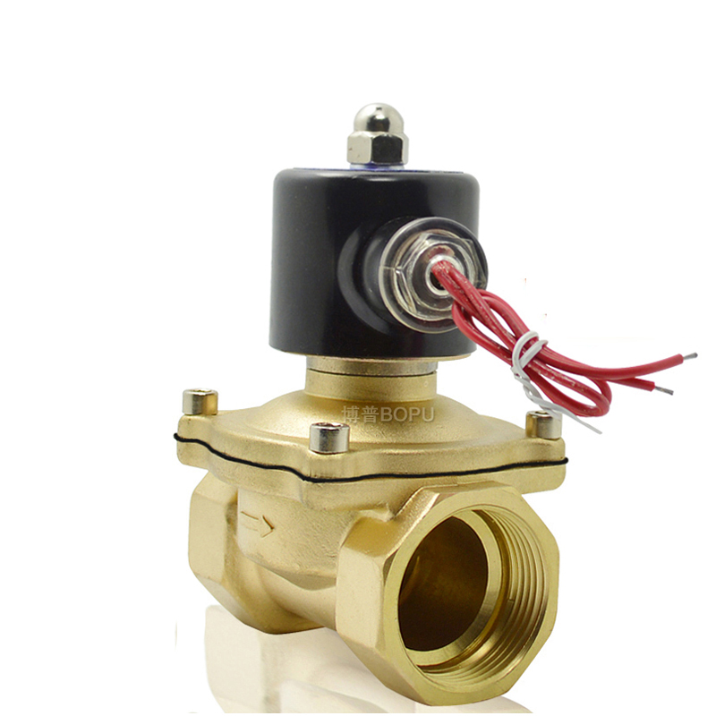 AC220V 1/2 Electric Solenoid Valve Water Air N/C Gas Water Air 2W160-15 2way2position ac110v 3 4 electric solenoid valve water air n c gas water air