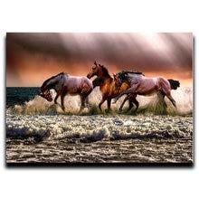 Картина из страз вышивка крестиком брызги лошадей квадраты с
