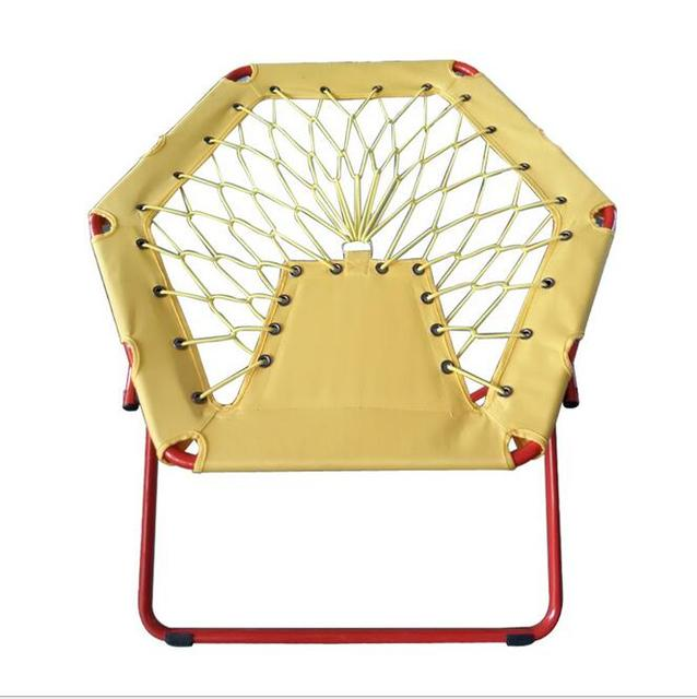 2016 New High Quality Outdoor Leisure Foldable Beach Chair Creative Web Elastic Bungee Insteresting Seat
