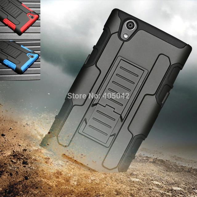 Protective Rugged Hybrid Armor Impact Hard Cover Case Belt Holster belt clip Stand For ZTE Zmax Z970