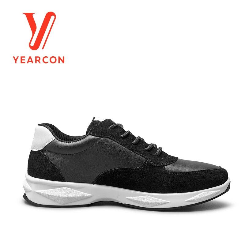 Black Yearcon Couro Atlético Para Casuais Moda 8112za90268w Apartamentos Da Calçados Tênis white Sapatos Esporte Homens Dos O CZqrCwd