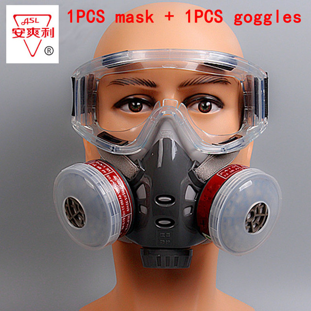 1 pcs máscara de gás óculos de proteção de alta qualidade pintar