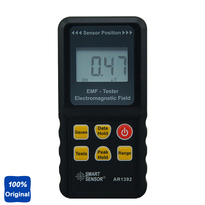 100% Original AR1392 Digital LCD Display Electromagnetic Radiation Detector EMF Meter Dosimeter gm3120 electromagnetic radiation detector tester phone pc home equitment radiation monitoring with lcd display