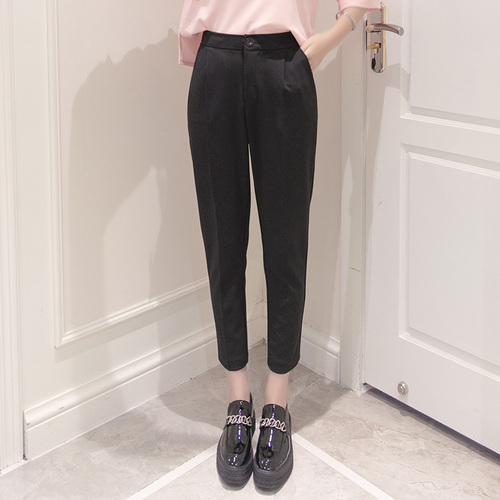 2018 Summer Spring New Casual Trousers For Women Fashion Office Lady Women's   Pants     Capris   Temperament Elastic Female   Pants