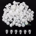 100 Pcs White Plastic Rivet Retainer Push Clip 8.2mm for Car Bumper Fender