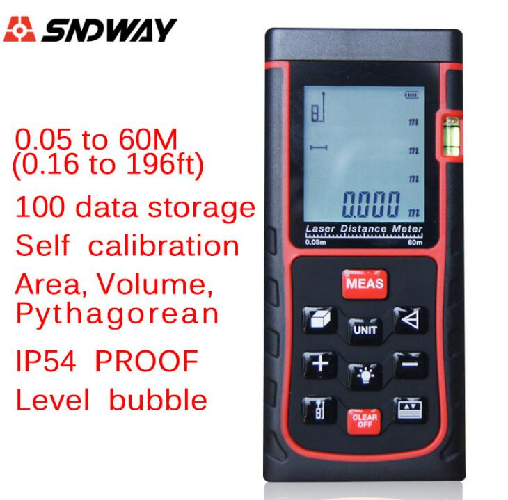Laser distance meter laser Rangefinders hunting SW-E60 60m(192ft) handheld trena laser Range finder RZ60 measure tester tools laser range finder 40m 60m 80m 100m digital laser distance meter tape area volume angle engineer measure construction tools