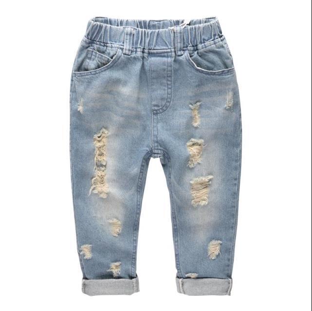 2-6years Mode Denim Hosen Jungen Zerrissenen Jeans Baby Jungen Jeans Kinder Kleidung Baumwolle Casual Kinder Jeans Kinder Hosen