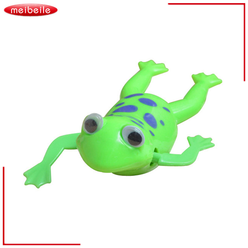 8Pcs/lot HOAU Swimming Frog Pool Bath Cute Toy Wind-Up Swim Frogs Kids Toy