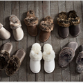 2017 Nuevo Invierno de Las Mujeres de Los Hombres Calientes Zapatos Zapatillas de Cuero de Interior Zapatillas de Algodón de Felpa Encantadora Pareja Inicio Zapatos de Gran Tamaño ZK4