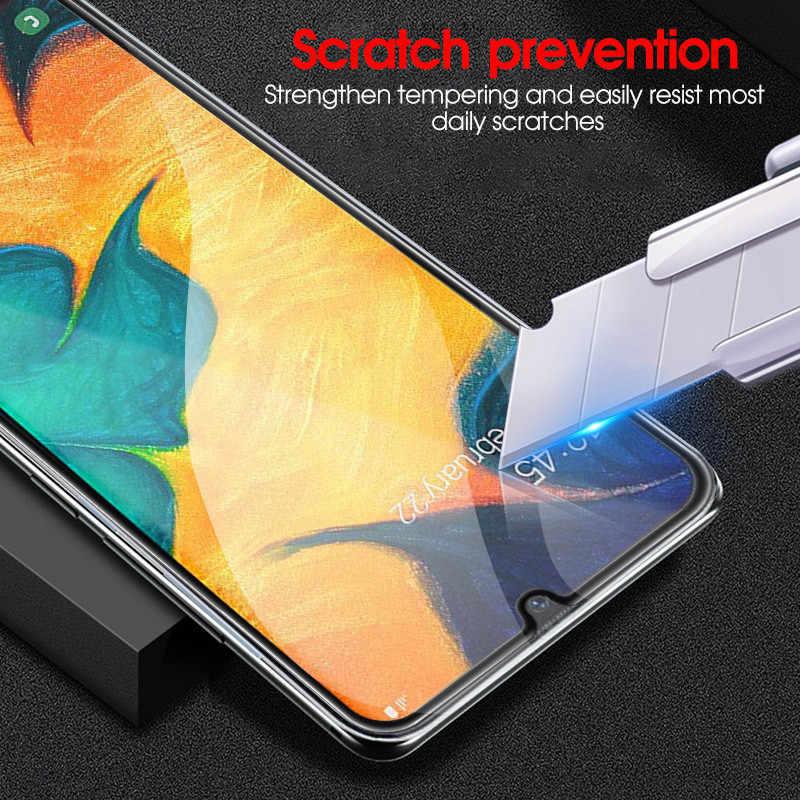 Vetro temperato Per Samsung A50 A40 A30 A20 M30 M50 completa Protezione Dello Schermo Della Copertura Glas su Samsun Sansung UN 50 40 30 pellicola protettiva