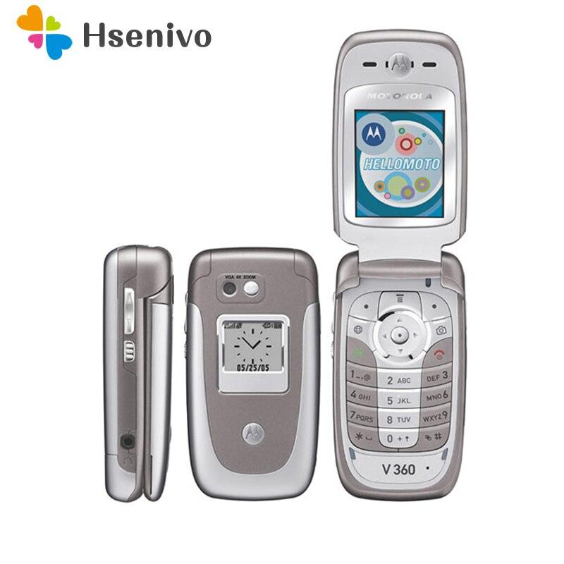 V360 100% Original débloqué mode Motorola V360 Flip GSM téléphone portable téléphone portable avec la russie/langue arabe livraison gratuite