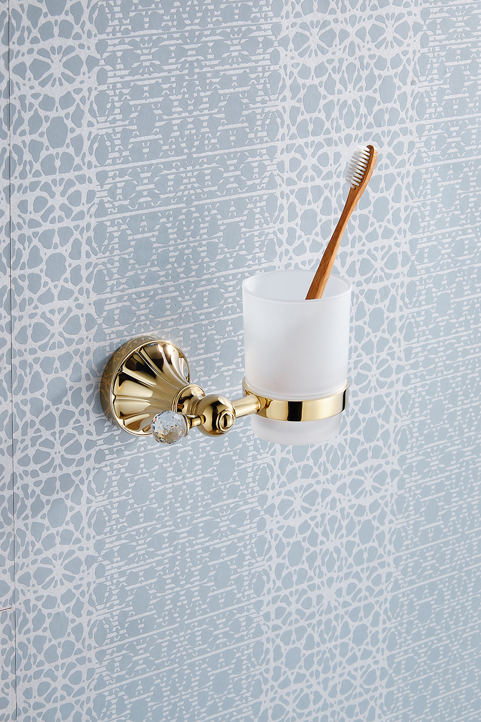 XOXO Golden Crystal Brass+Glass Bathroom Accessories Single cup ...