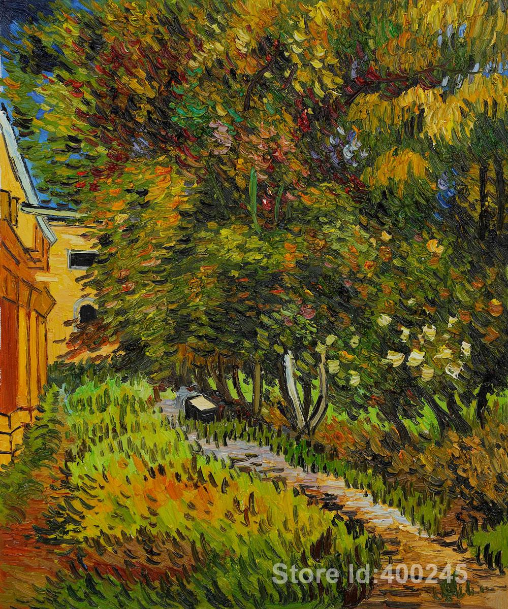 Asylum and Garden by Vincent Van Gogh Garden Oil painting ...
