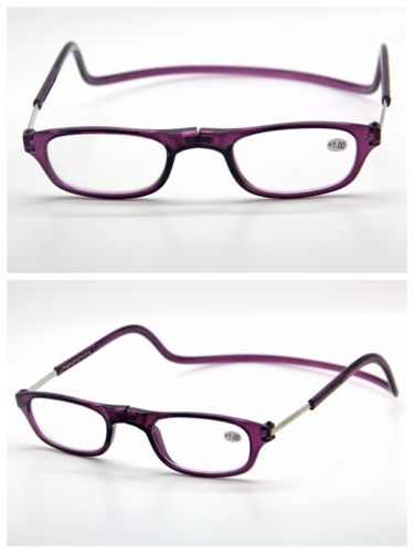 Free Shipping Purple Adjust Frame Reading glasses eyeglass Readers ...
