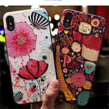 3D Cartoon Relief Pattern Case For iPhone XS XR Xs Max Soft Silicone Phone Cases For iPhone X 6 6S 8 7 Plus 5 5s SE Cover Coque цена и фото