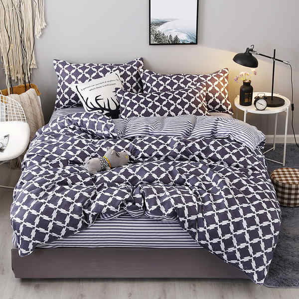 New Fashion Bedding Set 4pcs/3pcs Duvet Cover Sets Soft Cotton Bed Linen Flat Bed Sheet Set Pillowcase Home Textile Drop Ship