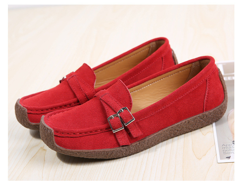 HX 7732-2019 Spring Autumn New Arrival Genuine Leather Women Flats Shoe-2