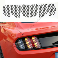 Black Honeycomb Tail Lamp Light Sticker Decor Trim Frame Cover For Ford Mustang 2015 2016