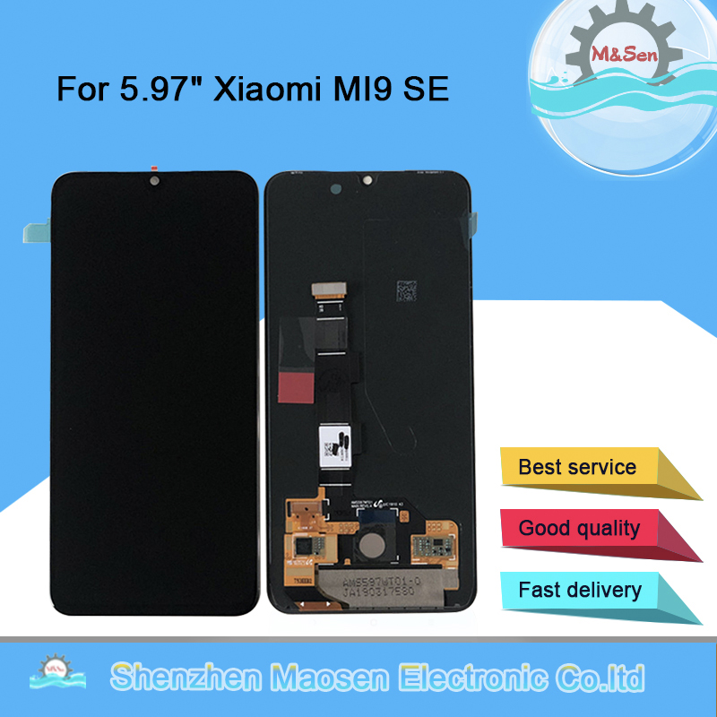 Original M Sen For 5 97 Xiaomi MI9 SE Mi9 SE AMOLED LCD Display Screen Touch