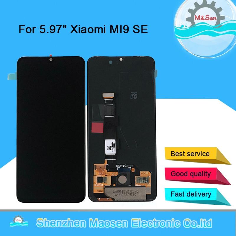 "5.97"" Original M&Sen For Xiaomi MI9 SE Mi9 SE AMOLED LCD Display Screen+Touch Screen Panel Digitizer For MI 9SE Mi 9 SE Display"