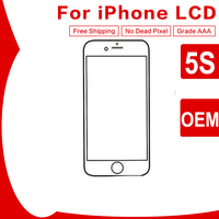10PCS LOT OEM AAA Quality LCD Display For Apple IPhone 5S Touch Screen Digitizer Assembly Remplacement