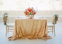 10 шт. прямоугольник золотые блестки Скатерть 90x156 дюймов, ручная вышивка дизайн Рождество Retangle скатерть для украшения