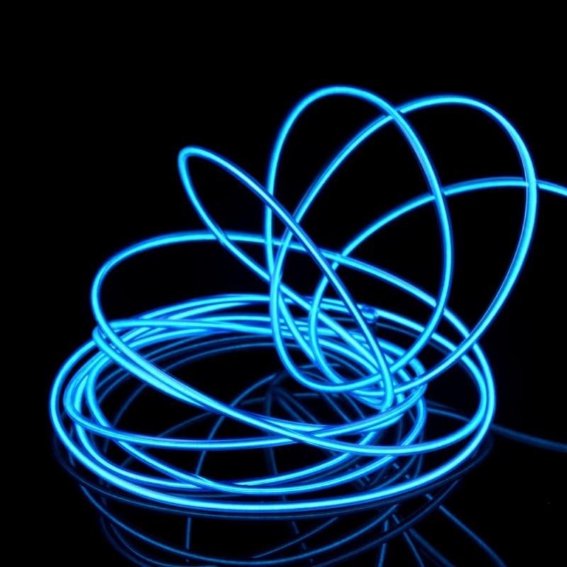 Flexible EL Wire Rope Tube Waterproof LED Strip 3m & 5m Light Dance Party Decor Light Neon LED Lamp 3V  Power Supply